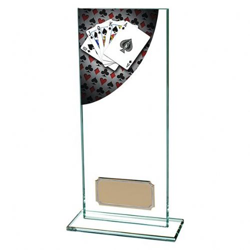 Colour Curve Poker Jade Glass Award 200mm